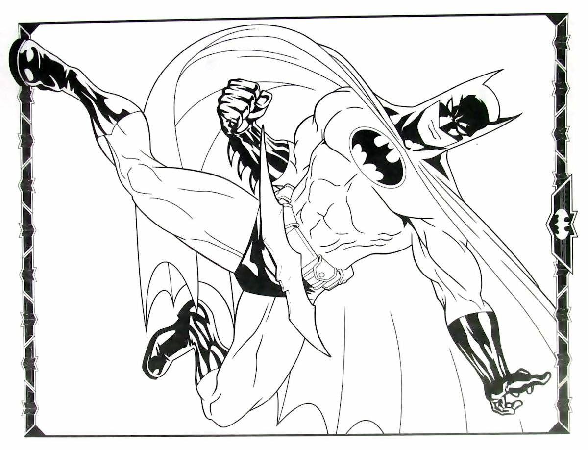 batman coloring book printable page - Batman Coloring Book
