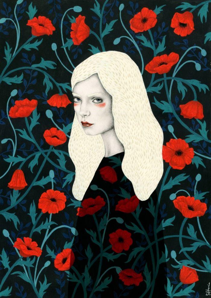 Poppy Art Print by Sofia Bonati
