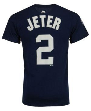 59754d7f7 Majestic Men's Derek Jeter New York Yankees Commemorative Player T-Shirt -  Blue XXL