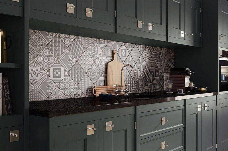 cr dence cuisine carreaux de ciment patchwork et artistique projets essayer pinterest. Black Bedroom Furniture Sets. Home Design Ideas