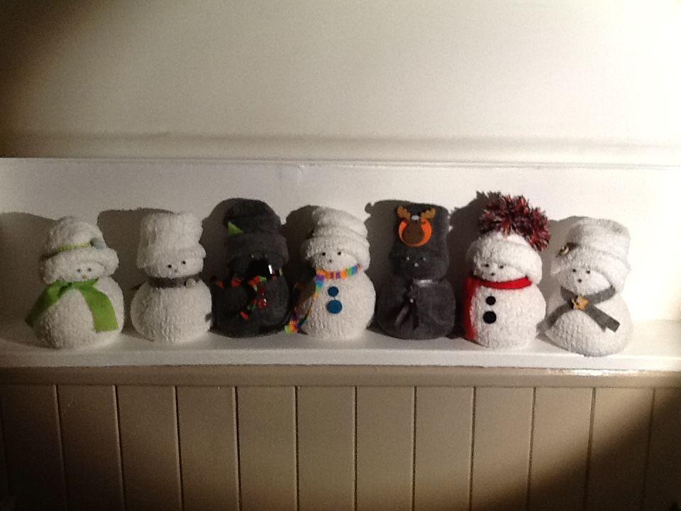 Bonhommes de neige chaussette by EmmA*CréA