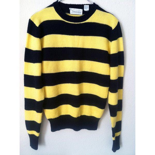 70s Bumblebee Black Yellow Stripe Jumper Sweater Punk Mod Grunge