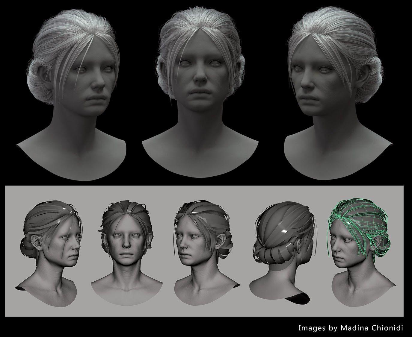 Hair Modeling Tutorial Maya Drawing