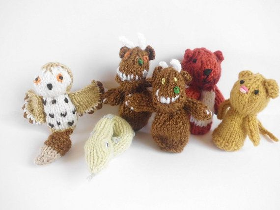 Pdf Knitting Pattern Gruffalo Finger Puppets For Charity Finger