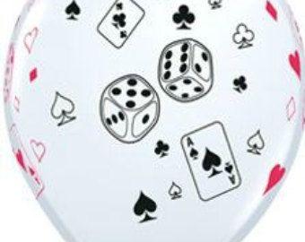 Casino verjaardagskaart met Poker verjaardagskaart 21e