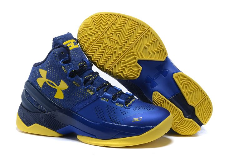 fb84883e Cheap Curry Two Men Shoe Deep Blue Yellow | Sneakers in 2019 | Curry ...