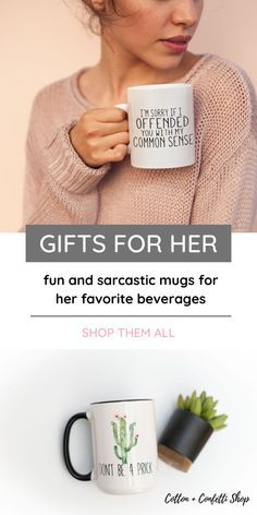 Our personalized mugs with sayings make the perfect gift idea for her or any event milestone or holiday! We love mugs with sarcastic sayings that make us laugh. We're also interested in YOUR designs. Send us your custom ideas and we'll personalize a mug and have it in the mail for you in a snap! The best gift ideas! #giftideas #mugswithsayings #perfectgiftideas #giftsforher  Our personalized mugs with sayings make the perfect gift idea for her or any event milestone or holiday! We love mugs with