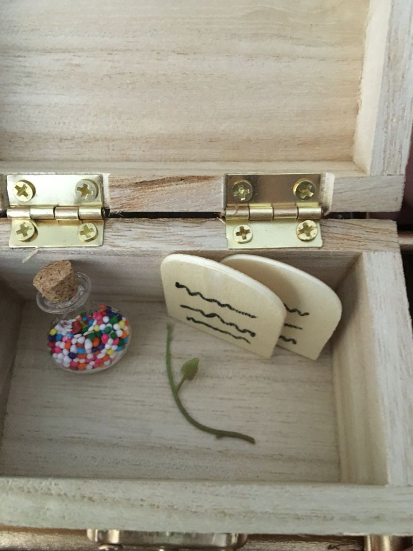 Inside Of Ark Covenant Craft Wood Box Michaels Section Manna Jars