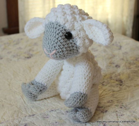 Large Jointed Lamb Crochet Pattern By Jcswhatknots On Etsy Baby
