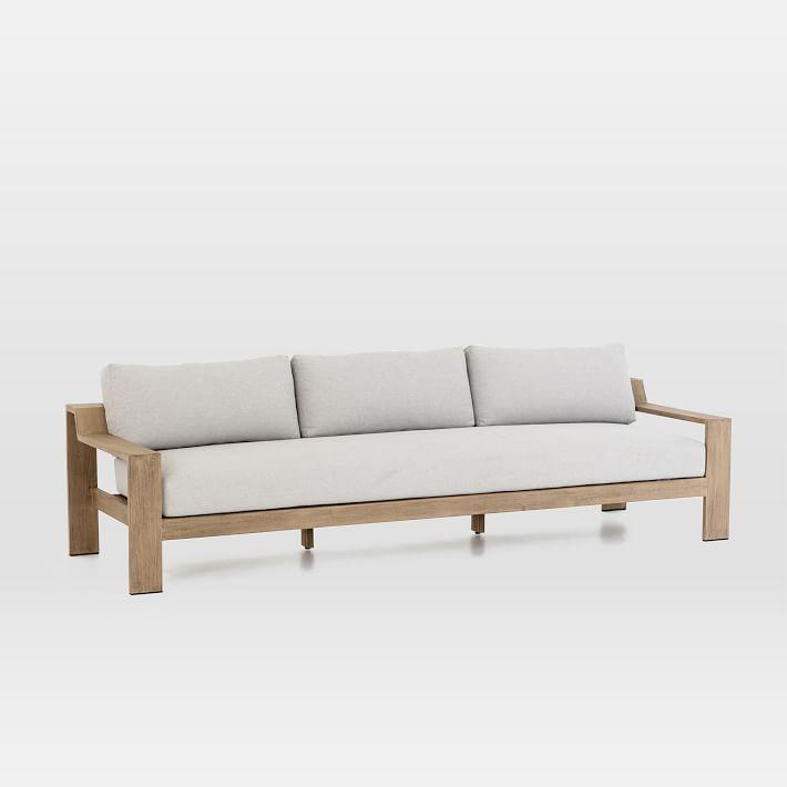 Teak Wood Frame Outdoor 3 Seater Sofa Sofa Wood Frame Wood Sofa 3 Seater Sofa