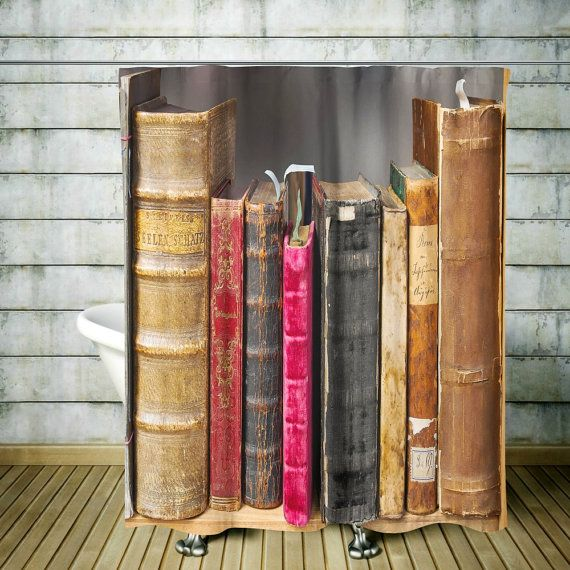 8 Bookish Shower Curtains To Make Your Bathroom Look Like A Library