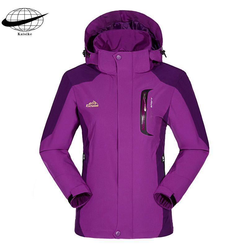 High Quality 2017 Outdoor Spring Autumn Waterproof wear-resisting Ski Windbreaker Women Camping Hiking Coat Hoody Plus Size 5XL