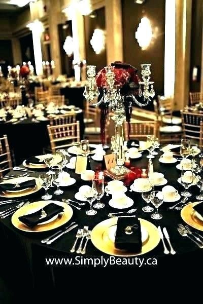 Easy red and black wedding centerpieces images  - Interiorku -