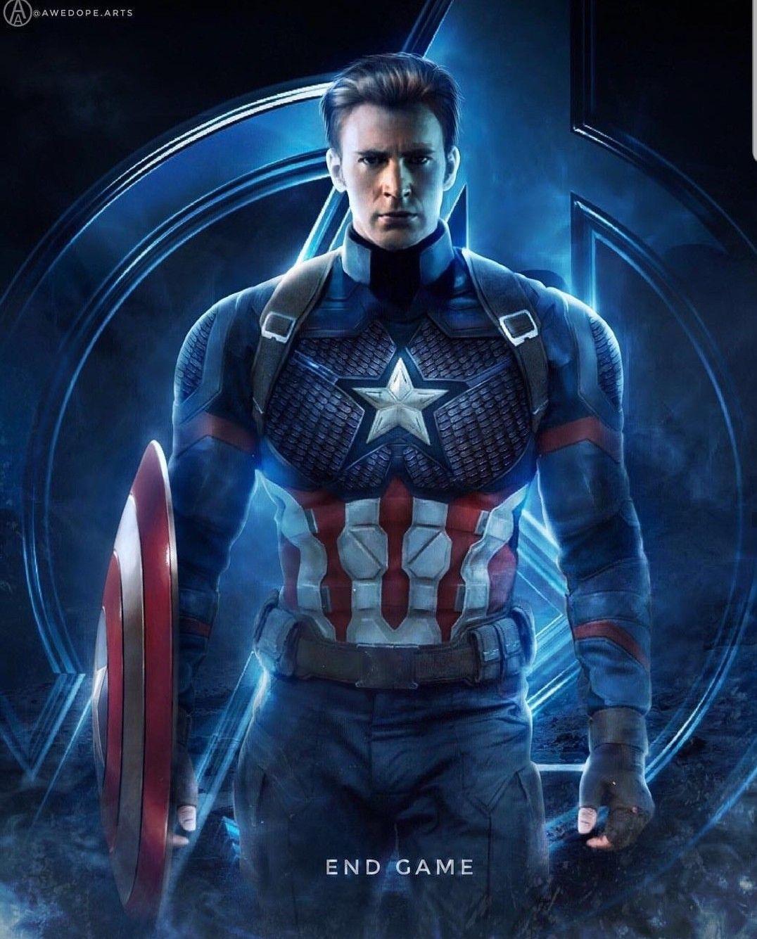 Captain America Endgame Wallpaper Art Marvel Captain America Avengers Captain America Wallpaper