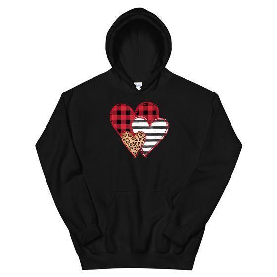 Striped Plaid Leopard Printed Splicing Heart Valentine's Day Gift/ Valentine...  #Day #Gift #Heart #Leopard #Plaid #Printed #Splicing #Striped #Valentines