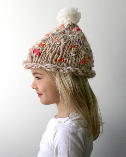 this hat is adorable. and the yarn texture would hide any mistakes!