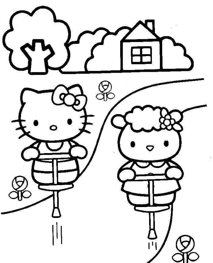 Hello Kitty Back To School Coloring Pages Hello Kitty Back To School Coloring Pages 4 Johnnyherber Hello Kitty Para Colorear Dibujos De Hello Kitty Hello Kitty
