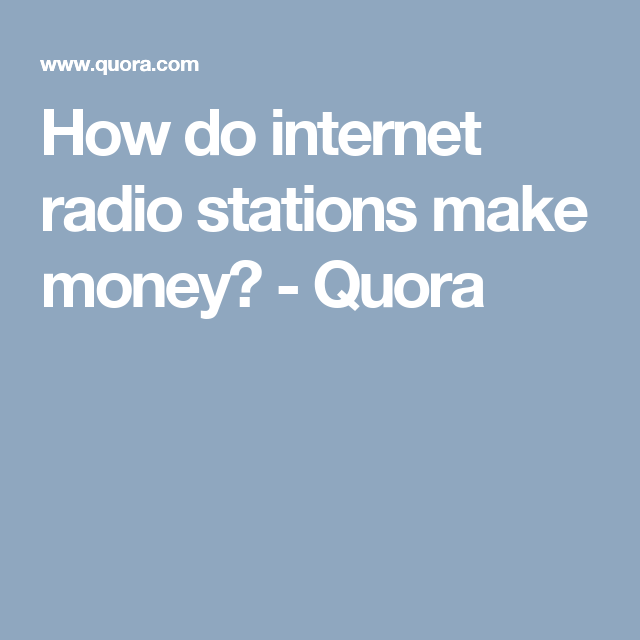 Pin On Doing Internet Radio