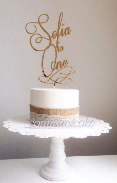 Cake Toppers Birthday Michaels : Sofia is One, Birthday, One cake, birthday cake topper ...