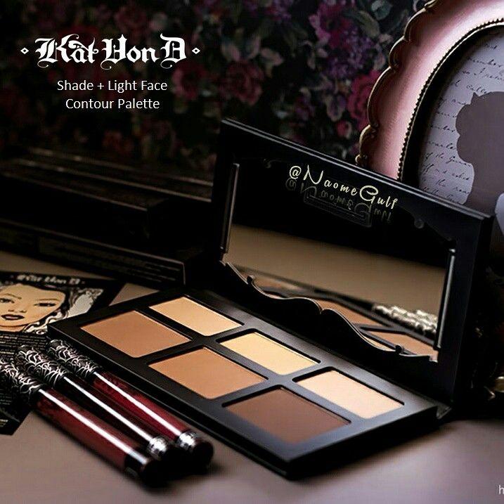 كنتور كات فون دي التعليب الباليت مصنوع من الورق المقوى مكون من 6 ألوان بودرة 3 منها للإضاءة و 3 منها للكونت Face Contouring Contour Palette Makeup