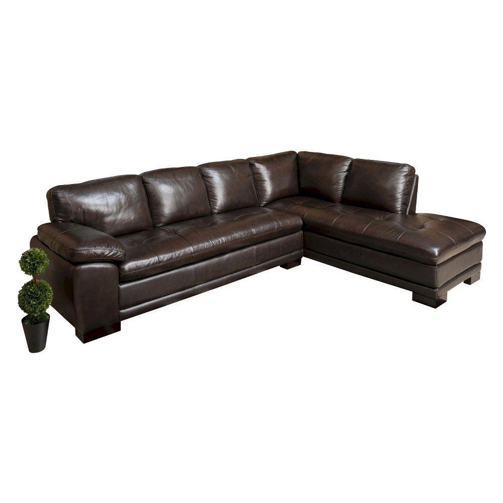 Best Prescott Sectional Sofa Abbyson Living Brown Italian 640 x 480