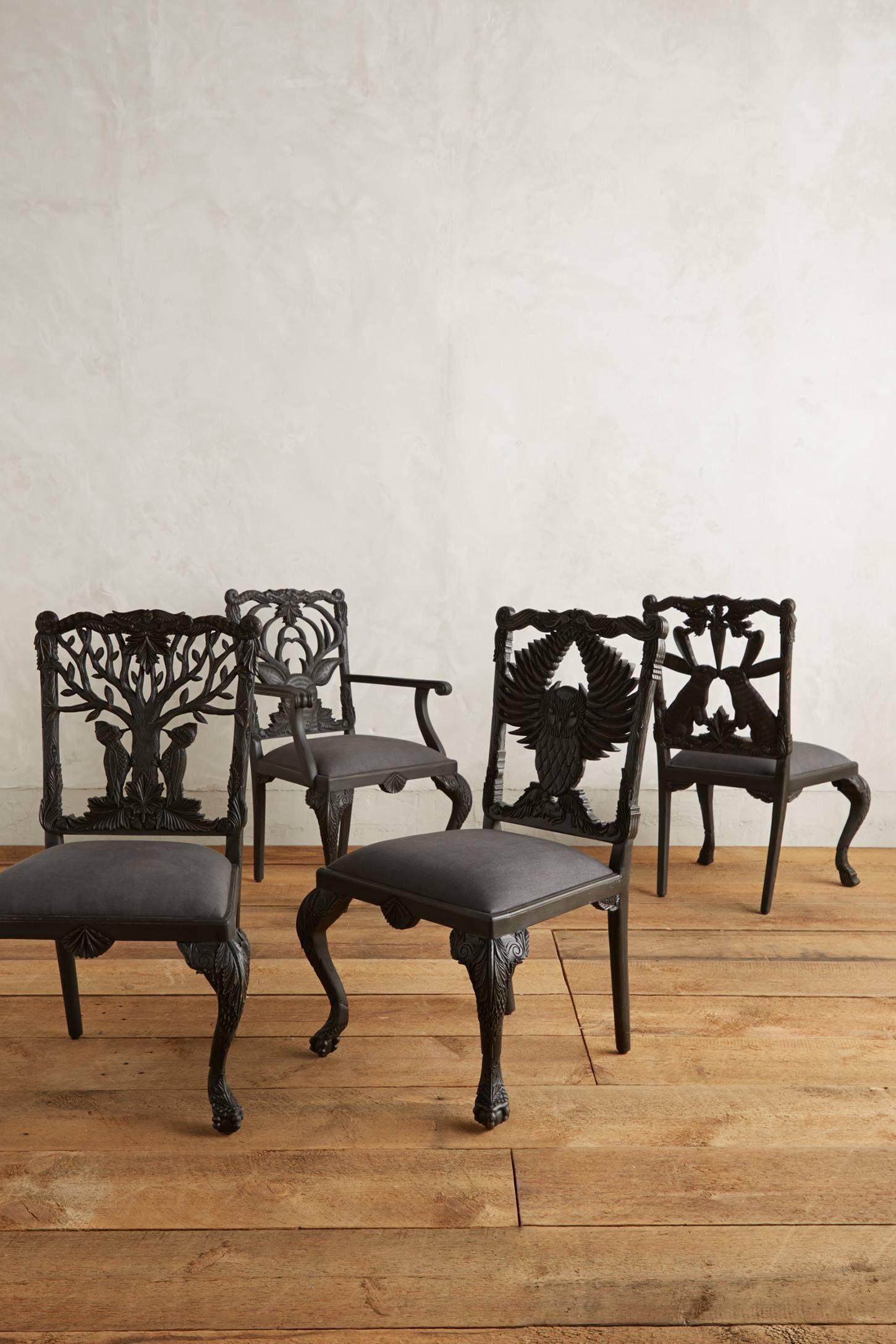 Shop The Handcarved Menagerie Woodpecker Dining Chair And More