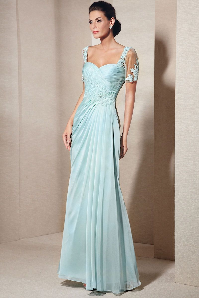 Elegant Evening Gown with Lace Short Sleeves 29580 from SIMPLE ...