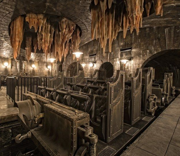 New Pictures Reveal Magical Details About The Harry Potter Gringotts Ride At Universal Orlando Harry Potter Universal Studios Harry Potter Ride Harry Potter Orlando