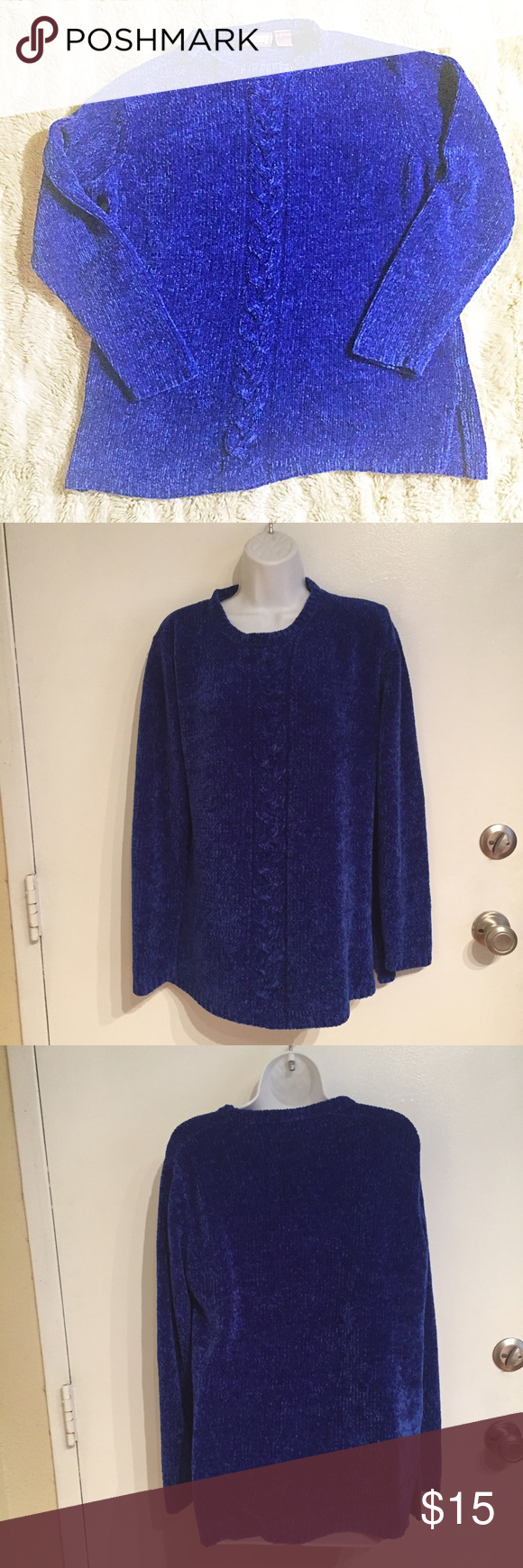 🦄5 for $25🦄 Plush Oversized Royal Blue Sweater Soft and plushy ...
