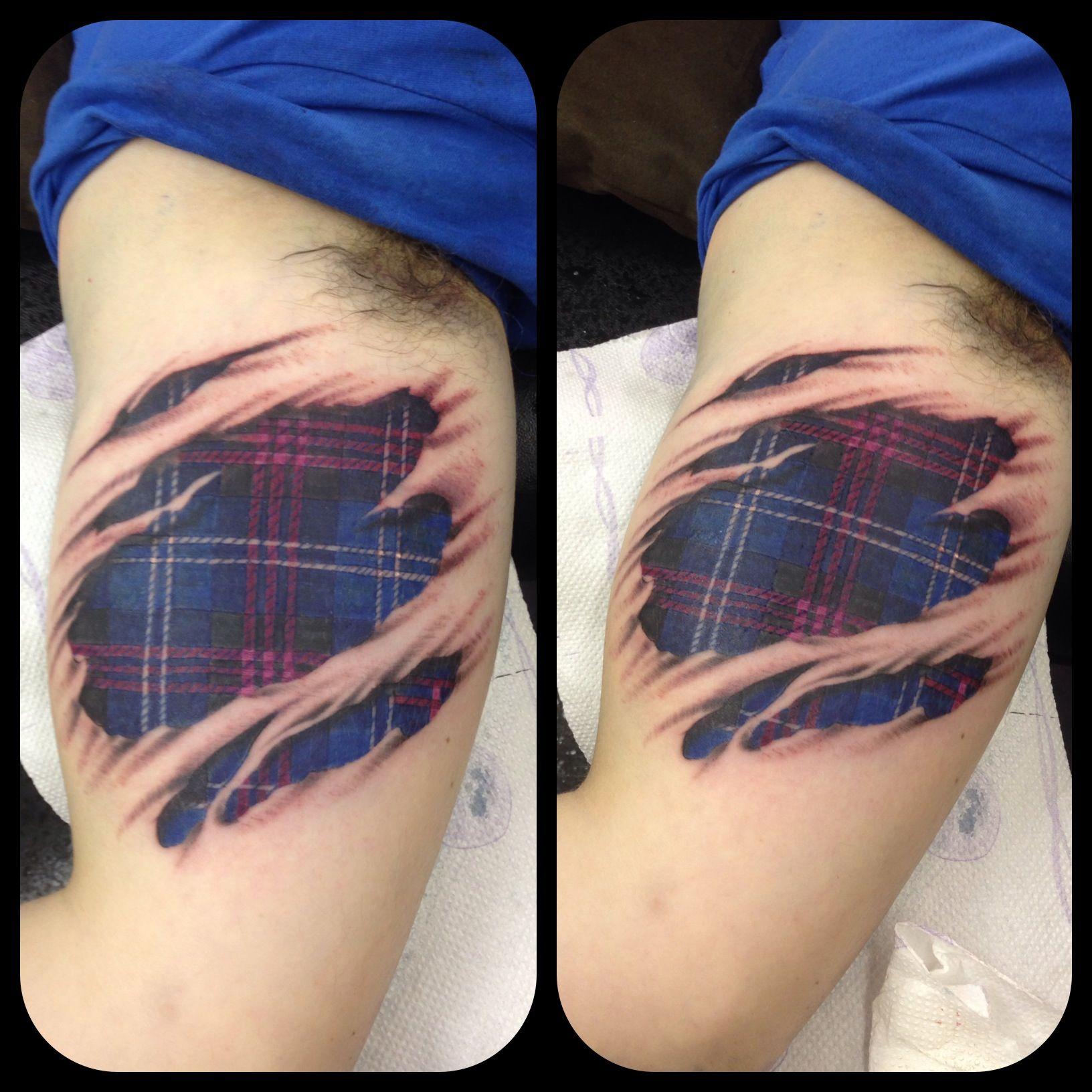 25 Amazing 3d Tattoos Scottish Tattoos Tattoos Under Skin Tattoo