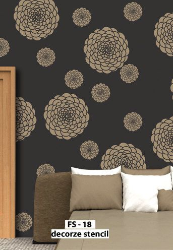 Flower Pattern Designs For Walls And These Flower Pattern Stencils