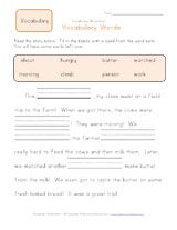 Worksheets Blank Vocabulary Worksheet 1st grade fill in the blanks vocabulary worksheet stuff to buy worksheet