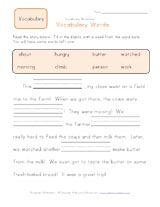 worksheet. First Grade Vocabulary Worksheets. Grass Fedjp ...