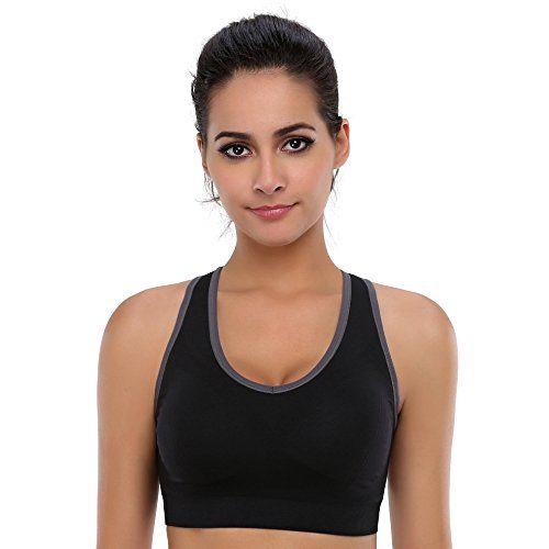 Women Racerback Sports Bras High Impact Yoga Gym Workout Fitness Activewear Bra