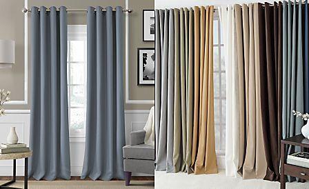 Elrene Essex Grommet Linen Window Treatment Collection - Easy Care Linen Look!