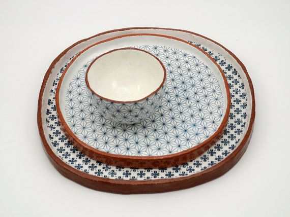 Large Tapas Plates and Bowl Set by susansimonini on Etsy & Large Tapas Plates and Bowl Set by susansimonini on Etsy ...