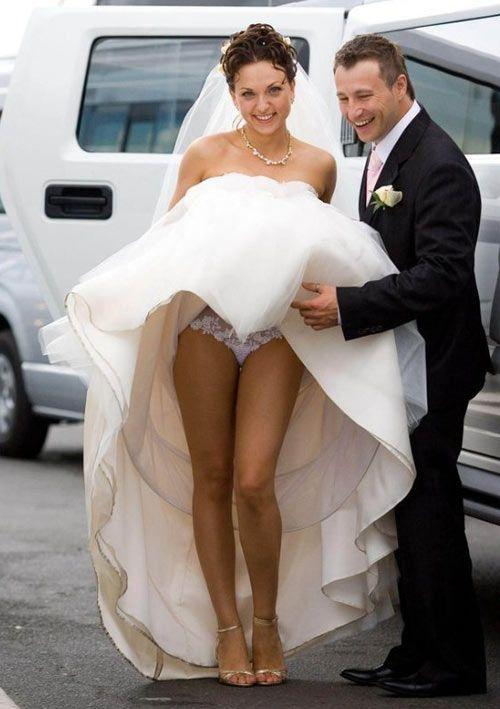 Upskirt brides wedding night