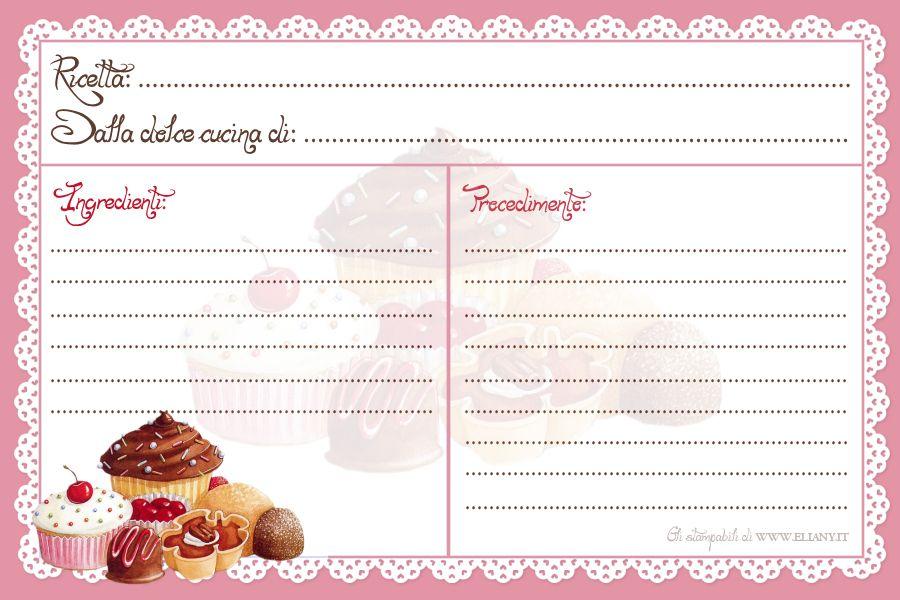 Recipe card stampabili tarjetas recetas pinterest - Modelli di ghirlanda stampabili ...
