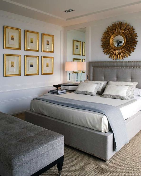 Suzie Nuevo Estilo Pablo Paniagua Chic Gray Gold Bedroom Design With Pale Blue Paint