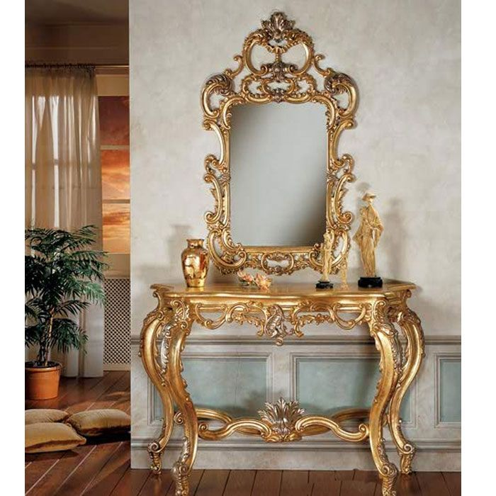 Reproduction French Console Table And Mirror 1 ~ Batefurniture.com  (Indonesia Furniture Manufacturer)