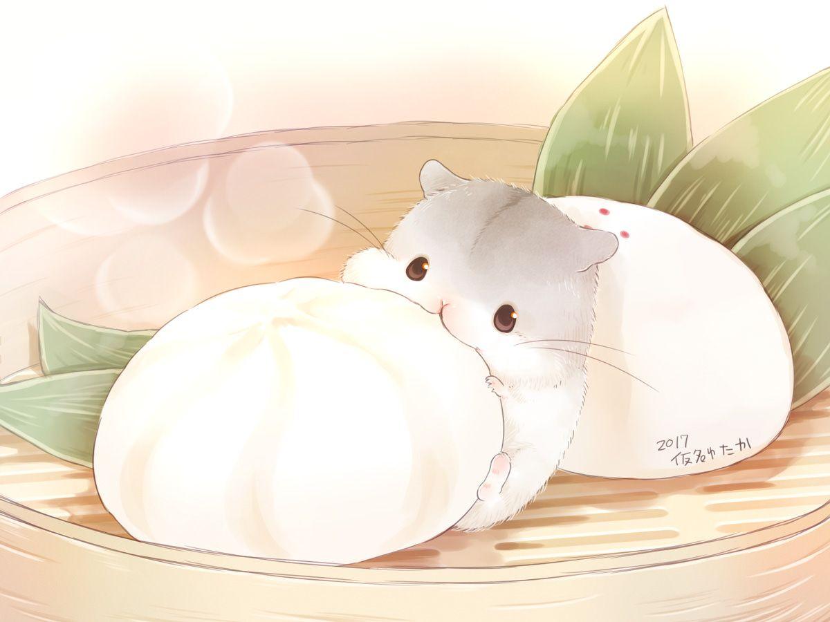 Imgur The Magic Of The Internet Cute Kawaii Animals Hamster Cartoon Cute Food Drawings