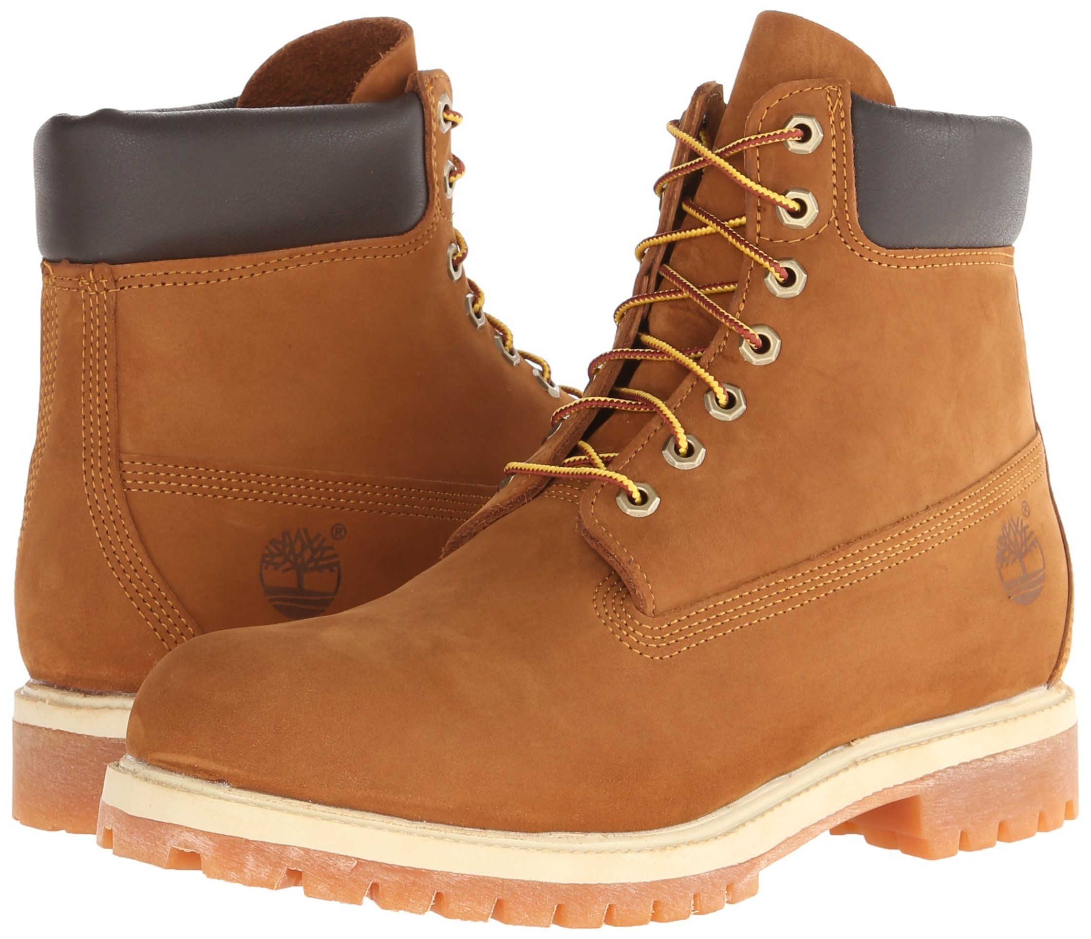 Timberland Mens 6 inch Premium Waterproof Boot Rust nubuck 9.5 D Medium