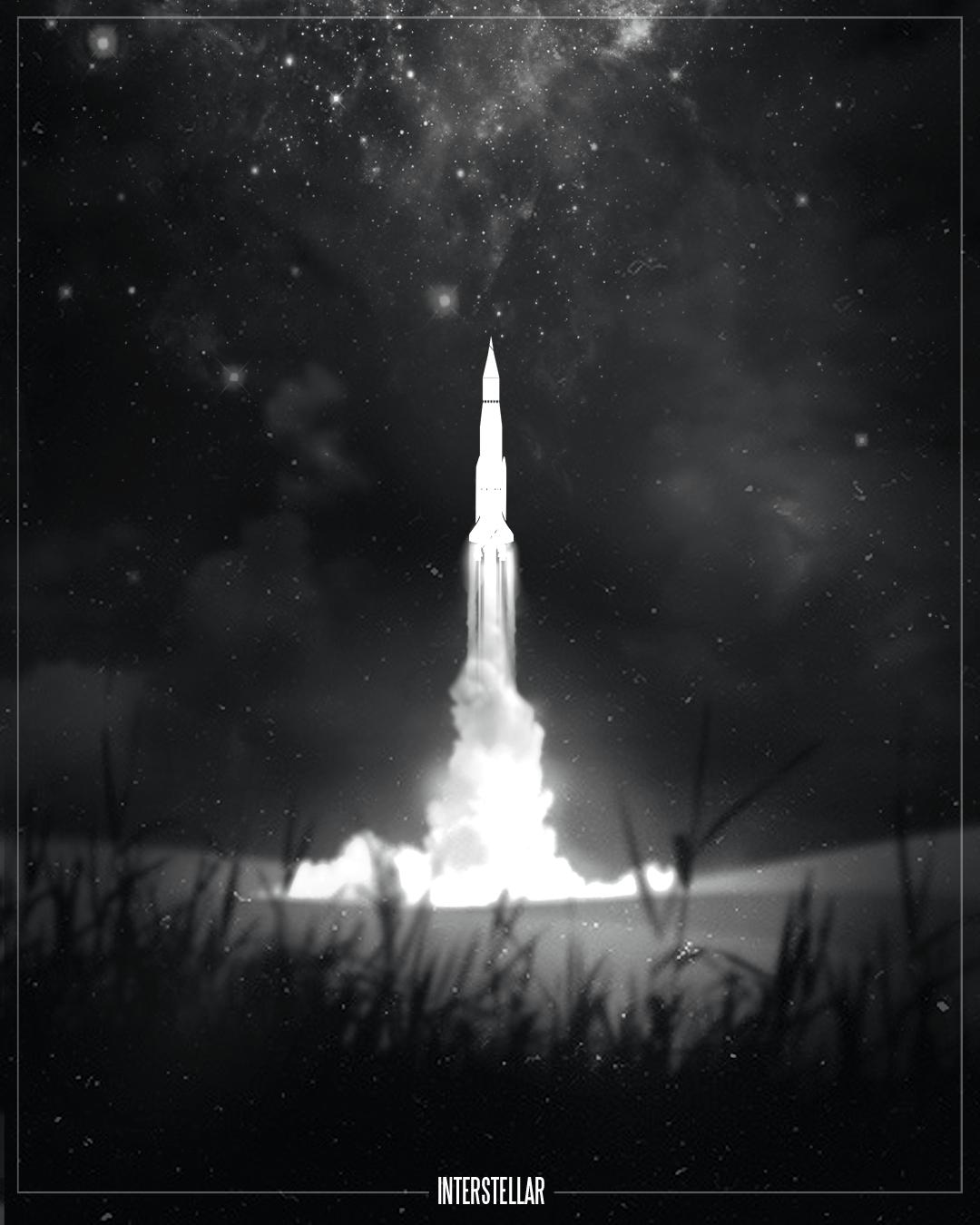Film Noir Style Design Of Movie Posters Interstellar - Beautifully designed interstellar posters james fletcher