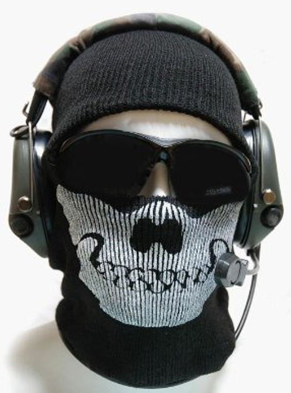 Derkang Ghost Skull Black Mask New Call Of Duty Cod Mw2 Ghost