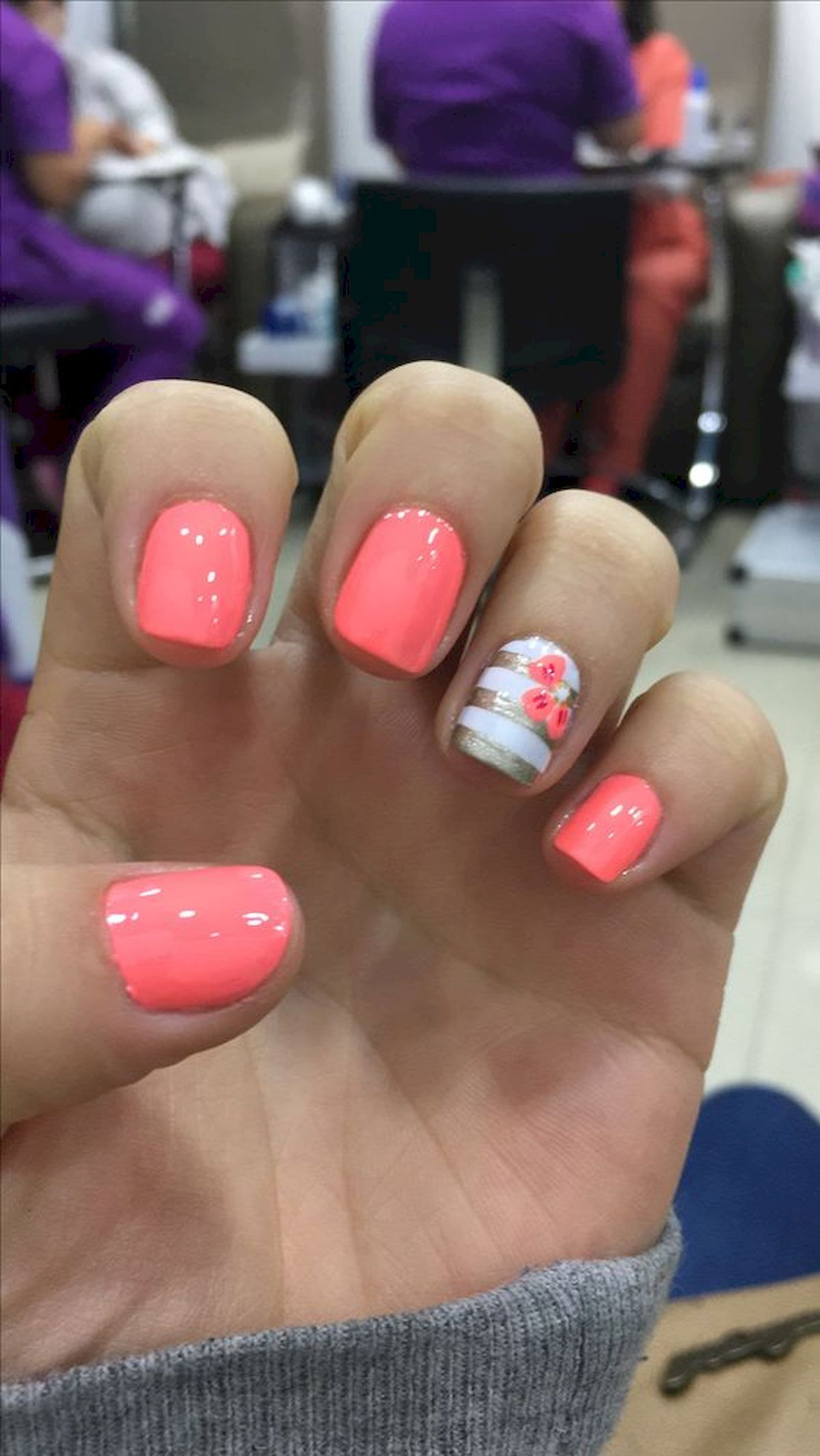 90 Best Spring Nails 2019 Ideas With Images Coral Nails Toe