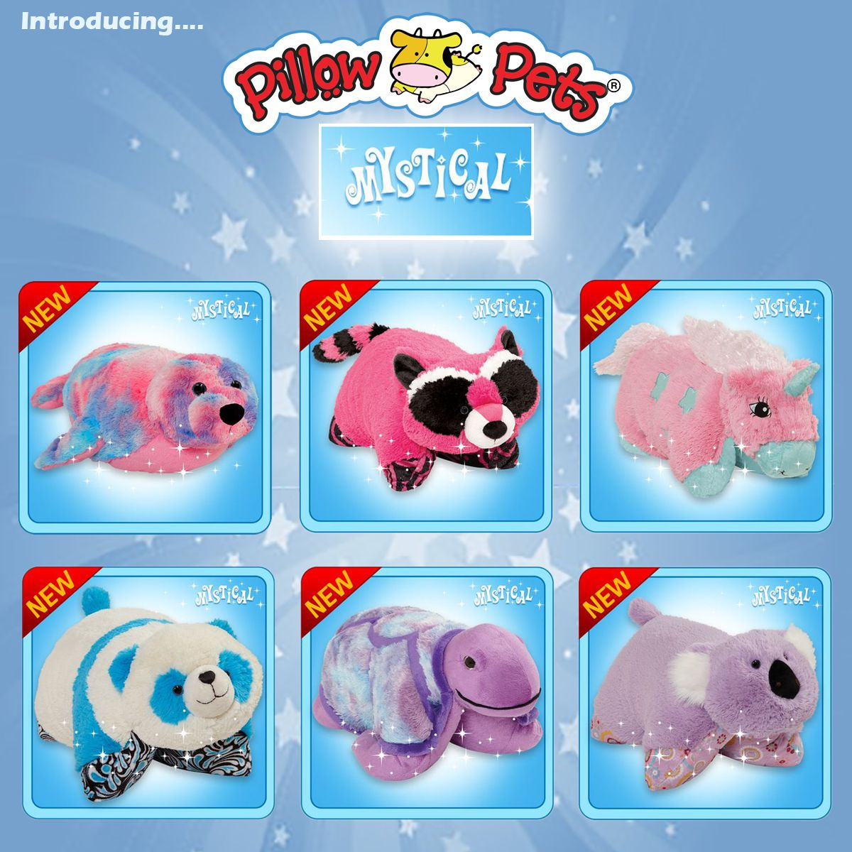 All Six Of The New Mystical Line Pillow Pets Animal Pillows