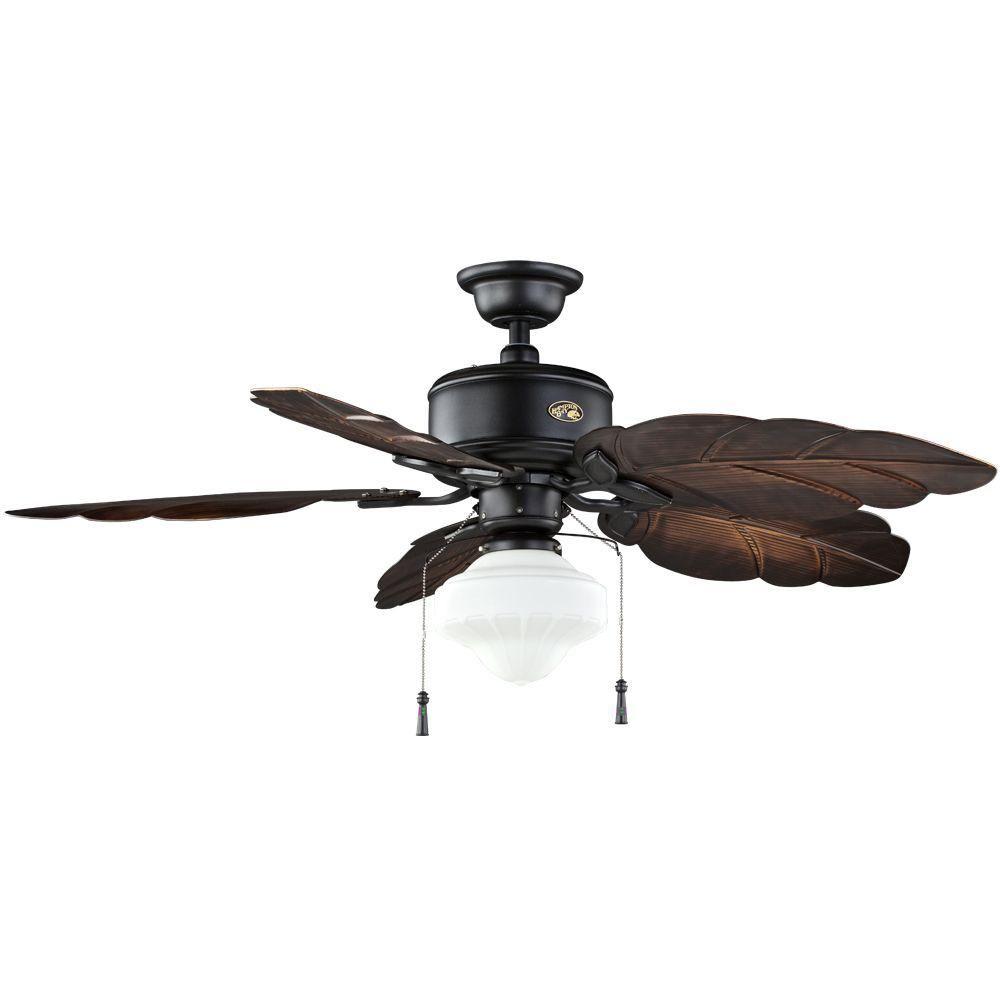 Hampton bay nassau 52 in natural iron indooroutdoor ceiling fan natural iron indooroutdoor ceiling fan 58020 at aloadofball Image collections