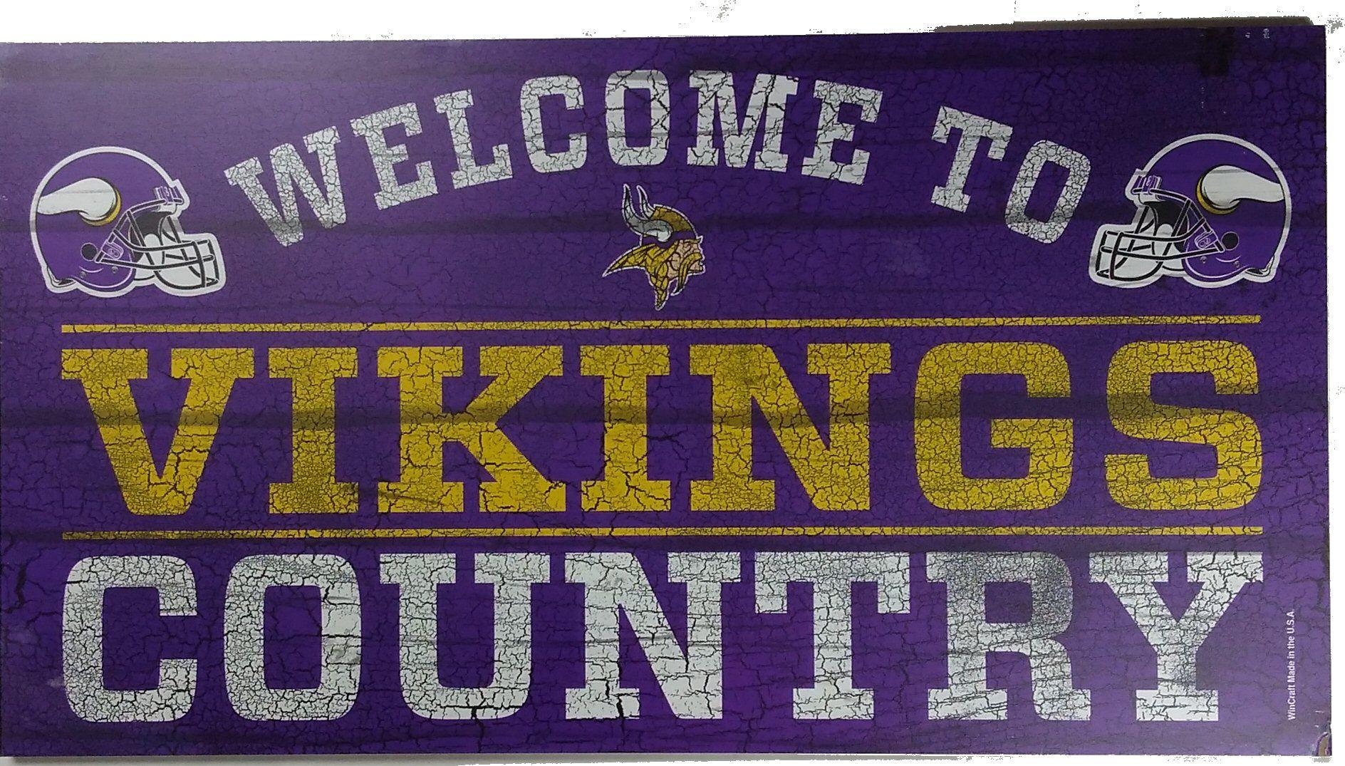 13 X 24 Wooden Minnesota Vikings Country Sign Minnesota