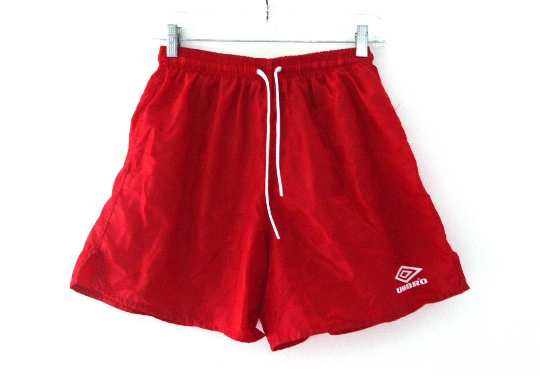5d96b15d64 Vintage 80s UMBRO soccer shorts nylon red checkered by 216vintageModern on  Etsy