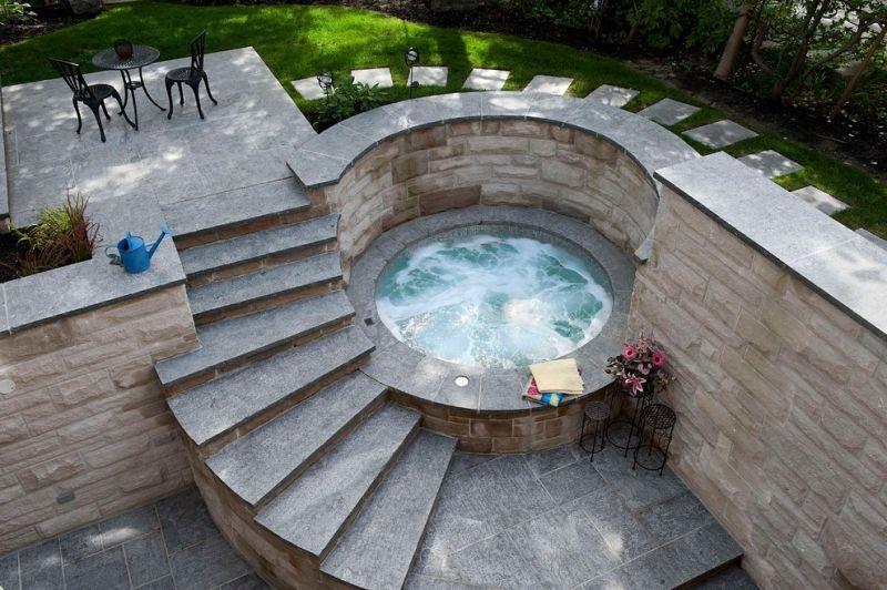 Whirlpool im Garten - kreieren Sie eine Wellness-Oase! Pool